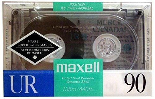 Maxell UR 90 - Blank Audio Cassette Tape - Normal Bias - ...