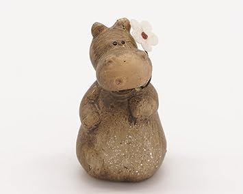 Avant Boutique  Zakka Style Cute Animals Statues With Little Flower,  Miniature Garden Décor