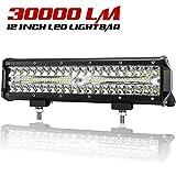 12 Inch LED Light Bar Spot Flood Combo Beam Liteway 30000 LM Triple Row Light Bar Off Road Driving Led Work Lights for UTV ATV Jeep Truck Boat Waterproof