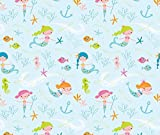 Mermaids Fabric - Mermaids by shindigdesignstudio - Mermaids Fabric with Spoonflower - Printed on Minky Fabric by the Yard offers