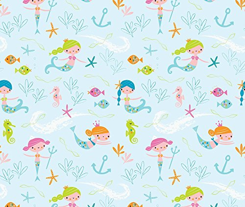 Mermaids Fabric Mermaids by Shindigdesignstudio Printed on Minky Fabric by the Yard by Spoonflower