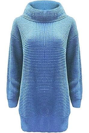290b8860 Fashion Star Womens Plain Cowl Roll Neck Baggy Jumper Dress: Amazon.co.uk:  Clothing