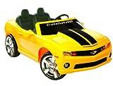 pedal car camaro - Kid Motorz 12V Two Seater Chevrolet Racing Camaro Ride-On Car, Yellow