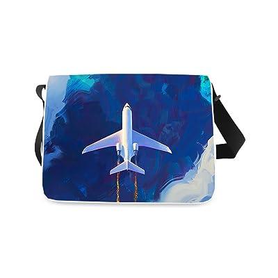 Messenger Bag, Plane Printed Classic Messenger Bag One-side Printing