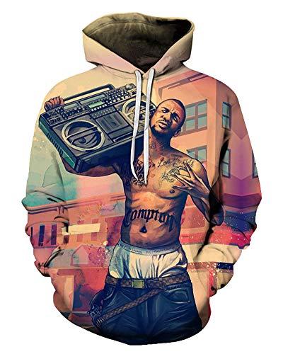 Gangsta Rap Hoodies 3D Sweatshirt Pullover Sweater Tracksuits Hoodies Cool Design Streetwear Clothes Plus Size 6XL
