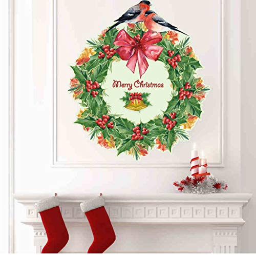 Qscwdv Evergreen Tree Leaf Vine Wall Stickers For Christmas for sale  Delivered anywhere in Canada