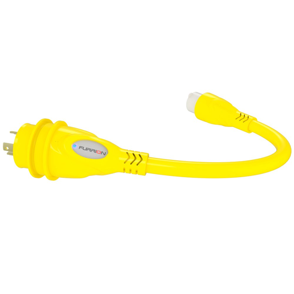 Furrion FP1530-SY Yellow 15 Amp Female to 30 Amp Male Pigtail