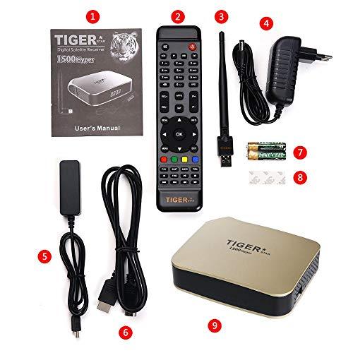 Tiger i500Hyper Satellite Receiver for IPTV 4k + 12 Months