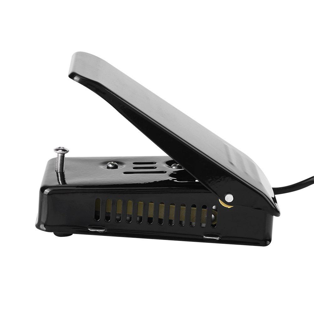 25A 250V P/édalier de Machine Electrique P/édale de Pied de Machine /à Coudre P/édale de Commande avec la Prise de lUE