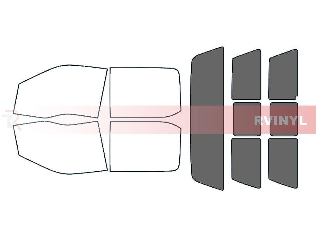 Rtint Window Tint Kit for Ford F-250 2017 (4 Door) - Windshield Strip - 5% Rvinyl