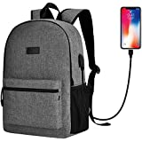 Sunny Snowy High School Backpack for Women Men,Travel Laptop Backpack up to 15.6 inch with USB Port