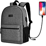 Sunny Snowy High School Backpack,15.6 inch Laptop Backpack for Men Women,Travel Backpack with Headphone Port (Gray)