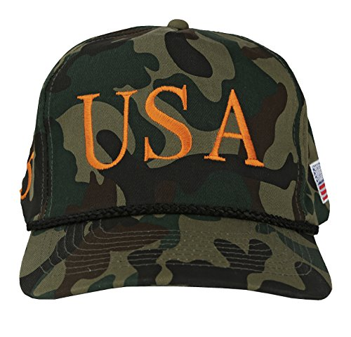 BRC New Trump 45th USA President Cap – Embroidered in USA! (Green (Hat New Camouflage Camo)