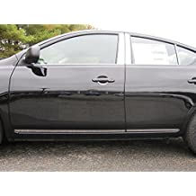 """VERSA 2012-2016 NISSAN (4 Pc: SS Rocker Panel Body Accent Trim, 1"""" wide - Lower Kit: Bottom of the door UP to the specified width w/ trim crease, 4-door) TH12531:QAA"""