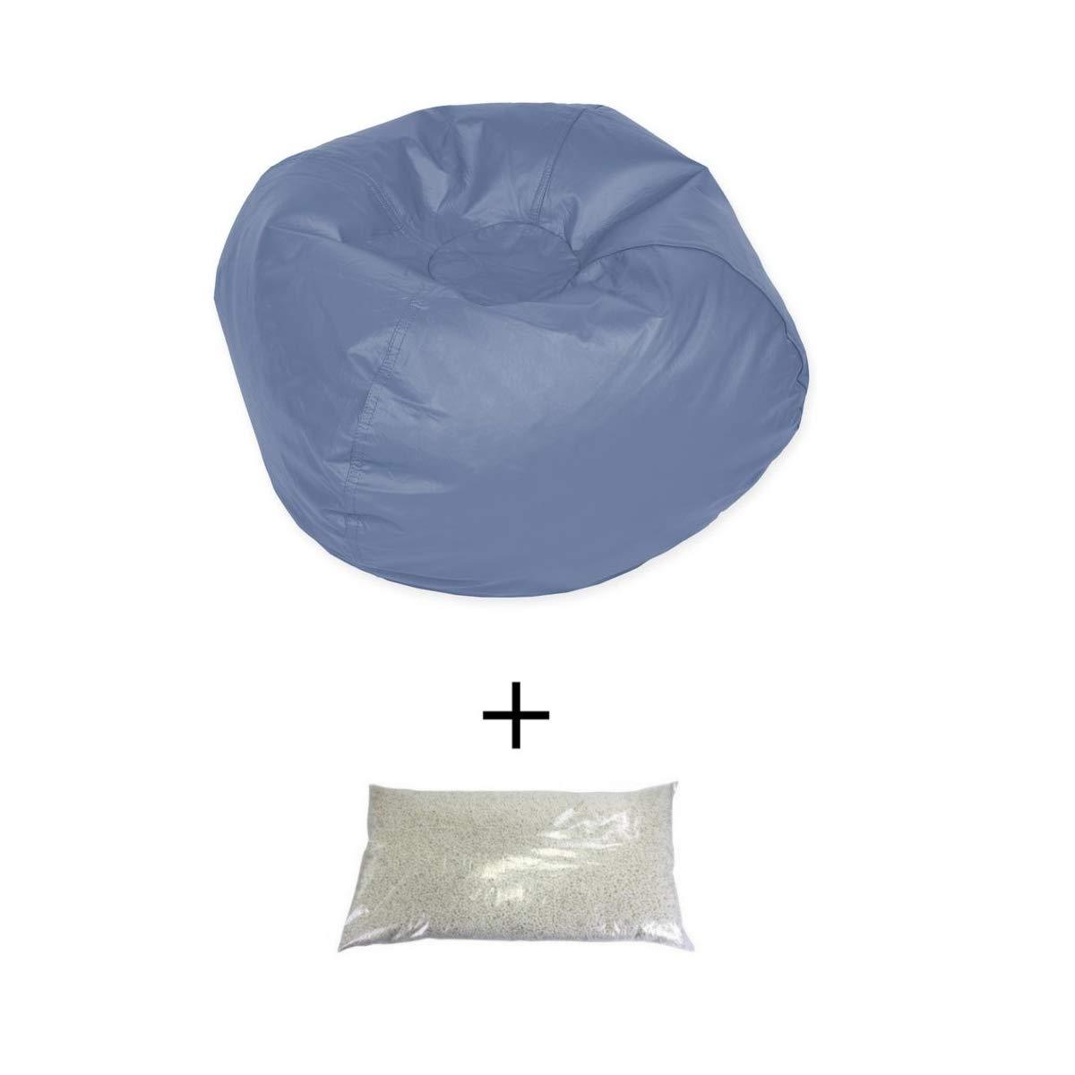 Amazon.com: Bean Bag Chair - Puf (tamaño grande, microfibra ...