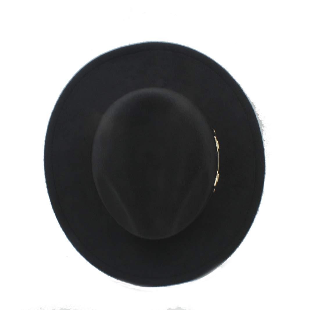 Unisex Retro Wollfilz Fedora Hut mit breiter Krempe Elegante M/ütze f/ür Lady Gangster Trilby Godfather