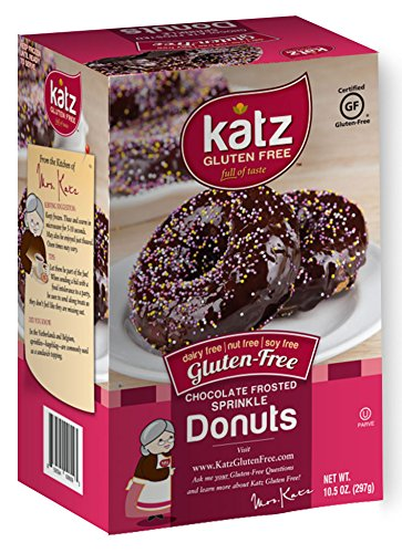 Katz, Gluten Free Chocolate Frosted Sprinkle Donuts, 10.5 Ounce, (1 Pack)