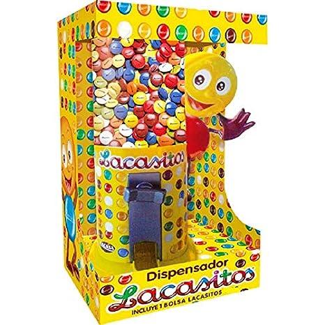 ALMACENESADAN 9984, Dispensador de lacasitos, grajeas de Chocolate recubiertas de una Fina Capa de azúcar Coloreado, Contiene 150 gr de lacasitos: ...