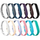 LEEFOX Fitbit Flex 2 Bands, Adjustable Fit Bit Flex 2 Accessories Silicon Replacement Wristbands w/ Fastener Clasp Fitness Strap for Original Fitbit Flex 2, No Tracker