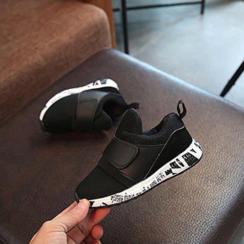 Igemy 1 Paar Baby Mode Soild Sneaker Kinder Kleinkind Breathable Casual Schuhe Schwarz