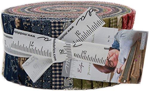 Betsy Chutchian Evelyn's Homestead 1880-1900 Jelly Roll 40 2.5-inch Strips Moda Fabrics ()