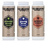 Fromonda Top Seller Variety Pack of Talc Free Body Powder - All Natural Dry Deodorant For Men & Women - Athletic Dusting Powder – Vegan - 5 OZ - 3 Pack