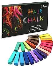 SYOSIN 24 Hair Temporary Chalk Colors Hair Color, Multiple Colorful Waxy