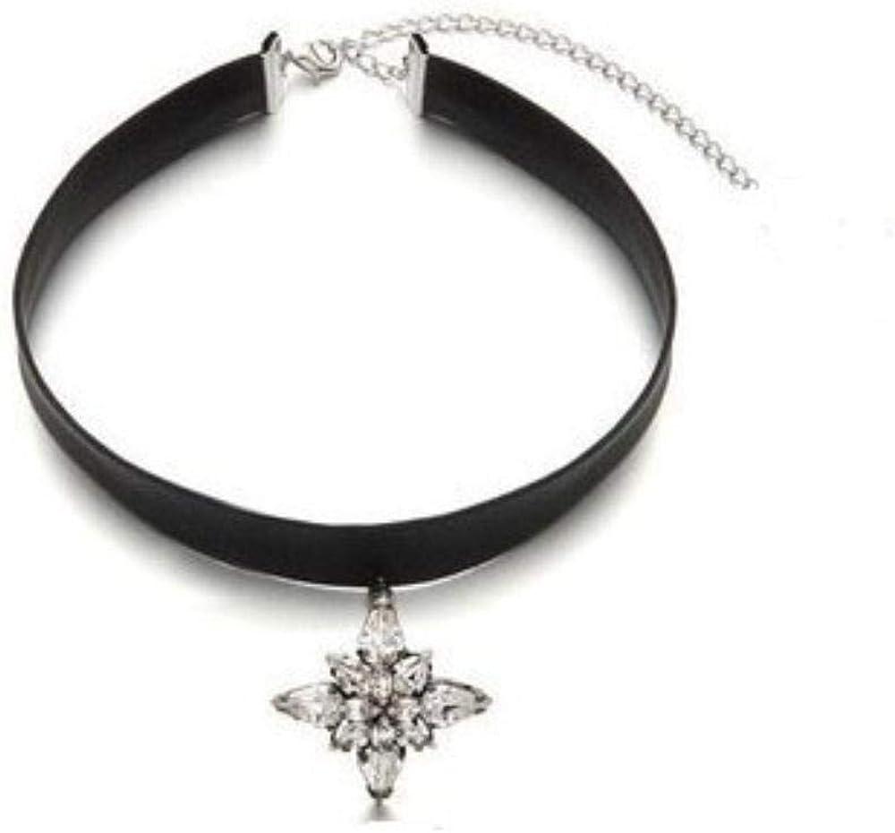 Pan•RUORA Collar De Mujer Collar De Cordón De Cuero Semiprecioso De Piedra Semipreciosa De Moda Collar
