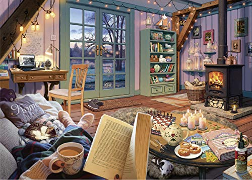 Ravensburger Cozy Retreat 500 Piece Large Format Jigsaw Puzzle for Adults - Every Piece is Unique, Softclick Technology Means Pieces Fit Together -