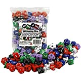Dice - Big Bag of 100 Gaming Dice by Monster - Assorted Sizes, Perfect for D&D, Education, Gaming, and more