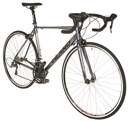 Vilano FORZA 2.0 Aluminum Carbon Shimano Tiagra Road Bike, Matte Grey, 53cm/Medium (Best Tiagra Road Bike)
