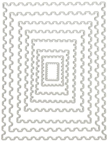 Hero Arts DI345 Nesting Postage Stamps Infinity Dies Paper Cutting Dies - Edge Stamp