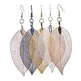 2018 Fashion Brincos Bohemian Long Earrings Unique Natural Real Leaf Big Boho Earrings for Women Fine Jewelry Gift