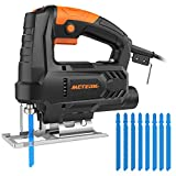 Jigsaw Tools, Meterk 400W 0-3000SPM Cutting in Wood 55mm Metal 6mm...