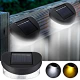 Solar Power 8 LED Wall Light Outdoor Waterproof IP65 Garden Fence Lamp (Color White)