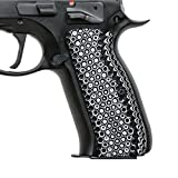 Cool Hand Grips for CZ 75 Full Size, Free Screws included, Golf Ball Dimple Texture, White/Black G10