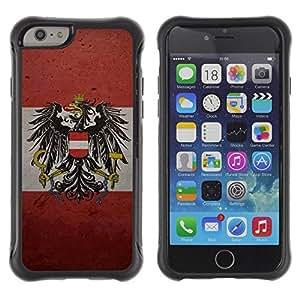 Suave TPU Caso Carcasa de Caucho Funda para Apple Iphone 6 / Austrian Flag / STRONG