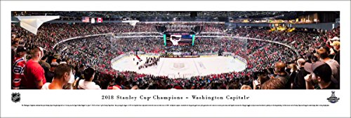 2018 Stanley Cup Champions, Washington Capitals - Unframed 40 x 13.5 Poster by Blakeway Panoramas (Mission Hockey Hoodie)