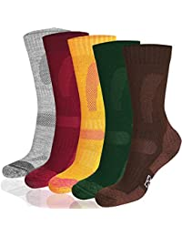 Merino Wool Hiking Socks Crew for Trekking, Performance & Outdoor, Men & Women (3 or 1 Pairs)