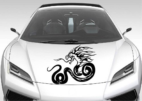 - Vehicle Auto Car Décor Vinyl Decal Art Sticker Flaming Snake Removable Design for Hood 1117