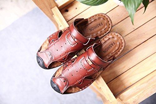 Xing Lin Sandali Estivi Uomini Sandali Di Cuoio Cuoio _ Primo Strato Di Pelle Sandali Tendine Uomo In Pelle Sandali Ciabattine Maschio brown