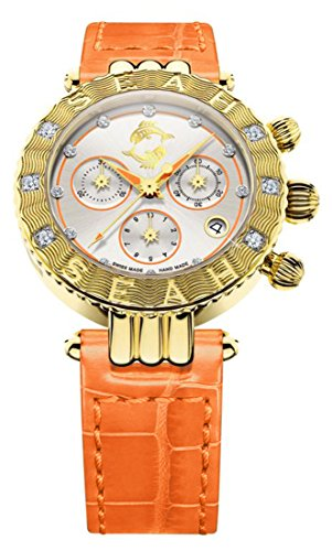 Seah-Galaxy-Zodiac-Sign-Pisces-38mm-Limited-Edition-18K-Yellow-Gold-tone-Swiss-Made-Luxury-Diamond-Watch