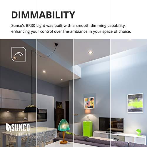 Sunco Lighting 48 Pack BR30 LED Bulb 11W=65W, 2700K Soft White, 850 LM, E26 Base, Dimmable, Indoor/Outdoor Flood Light - UL & Energy Star by Sunco Lighting (Image #7)