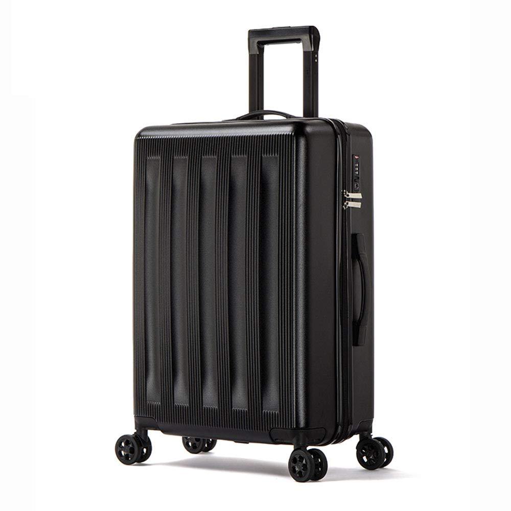 20インチローリング荷物のスーツケースの搭乗ケース旅行の荷物ケーススピナーのケーストロリースーツケースのホイールケース  Black B07LFH8FXD
