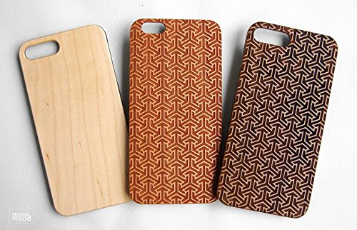 Miniwood iPhone/ Samsung Case - Natural Real Wooden, Laser Engraving, Unique Case, Unique, Classy & Stylish Wood, Protective Bumper with Real All Wooden Cover, Unique Gift for - Burch Birthday Tory Card Gift