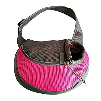 Wiwsi Small Puppy Carrier Dog Cat Single Shoulder Sling Bag Travel Tote Handbag(S,Green)