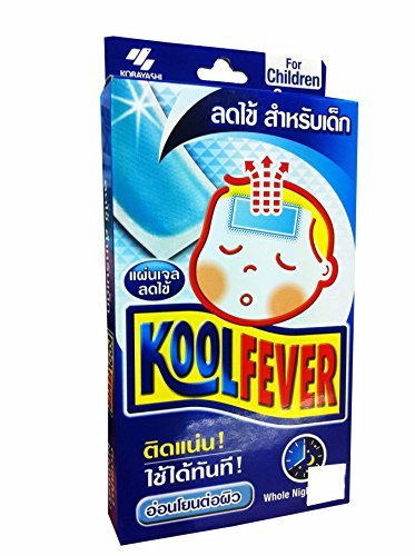 Koolfever, Reduce Fever Cooling Gel Pads for Children, Whole Night Cooling, 1 Box X 6 Sheets (Size of 50 Mm X 110 Mm)