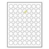"""1"""" Round Matte White Sticker Label, Laser/Inkjet"""