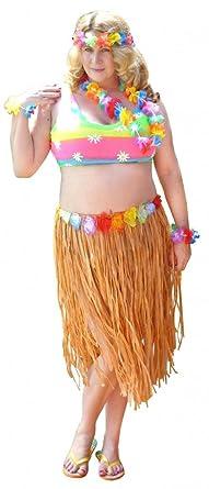 Amazon.com: Plus Size Hawaiian Hula Girl Costume Economy ...