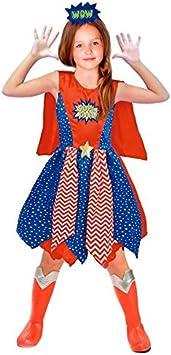 Disfraz Heroína Supergirl niña infantil para Carnaval 7-9 años ...